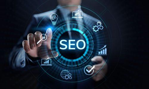 SEO Search engine optimisation digital marketing business technology concept